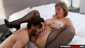 Saras big tits attract her sons best friend
