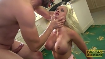 silicone blonde Cindy Sun adores when her lover cum on her face