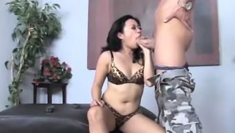 Biggest Asian Facial Ever? Little Asian Gets Cummed On