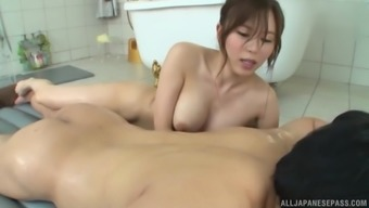 Amazing Mikuni Saya wants to massage a dick with her mouth