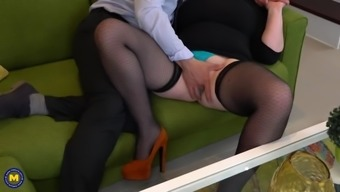 Taboo sex with big mother and crazy son