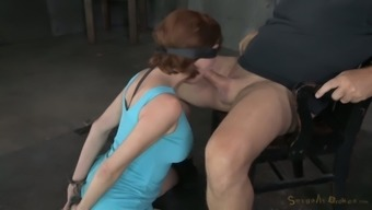 Blind folded MILF Veronica Avluv gets her mouth hole fucked