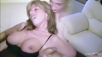 Mother caught aunt jenny sex step son and join 3some german