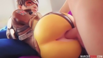 Round ass brunette tracer gets pussy drilled well
