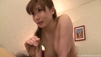 hand job during the massage is a fantasy for horny masseur Chino Azumi