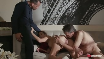 After sucking balls and cock lusty Tara Ashley rides her stud on top