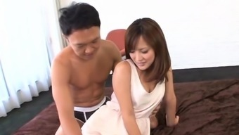 Nice-looking babe removes undies to pose when anal fucking