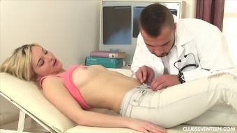 This doctor knows his sexy blonde patient needs to get fucked