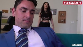LETSDOEIT - Dirty Foursome Sex with Horny Secretaries & Boss