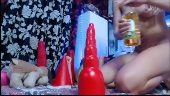 Girls4Cock.Com *** Little Blonde Takes Mega Cocks in her AssHole