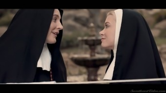 Sinful nuns are eating each others pussies and making love like there's no tomorrow
