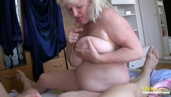 Threesome with two mature woman and one horny naked guys cock