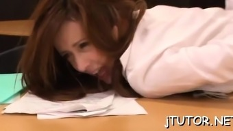 Worshipped japanese Rora Misaki blows and gets fingered