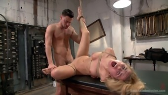 after a long day horny dude wants to punish Alina West with amazing fuck