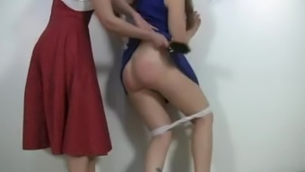 a cheerleader's lies gets her spanked by her hot milf