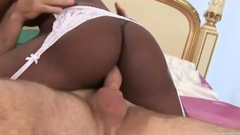 future bride Jasmine Webb enjoys hard fuck with a stranger on the bed
