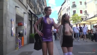 Zenda Sexy and her kinky friend adore the humiliation in the public