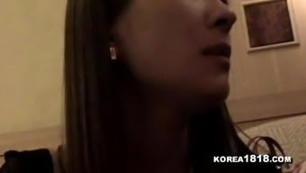 nasty Korean KTV girl sucks dick for money and has sex