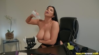 Romi Rain loves to show her huge tits and fucking skills to the camera