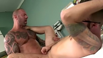 Another examination by the fake doctor sucking his huge cock