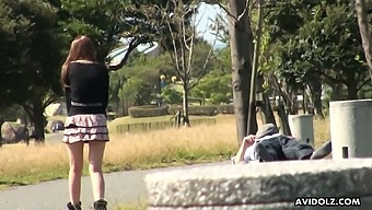 Horny gal goes to a public toilet to suck a stiff cock for money