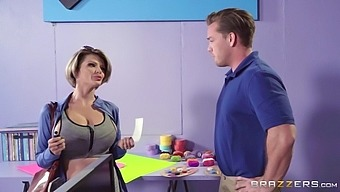 joslyn james shows off her huge boobs and seduces the guy