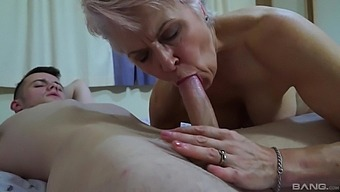 Mature leaves horny nephew to test her for a few rounds