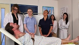 Sexy doctor Ava Austen teaches her students how to suck a dick