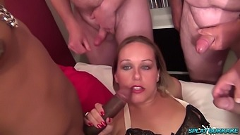 SplatBukkake. Debut gangbang party for Ashley Rider