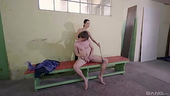 Dirty male slave gets his ass pegged by naughty Freya Dee with a strapon