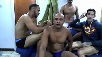 Russian hotties enjoy hardcore group sex