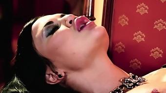 Attractive pornstars Jasmine Jae and Barbie Sins having lesbo sex