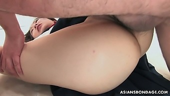 Two kinky dudes fuck nice Japanese girl in sailor dress Ai Mizushima
