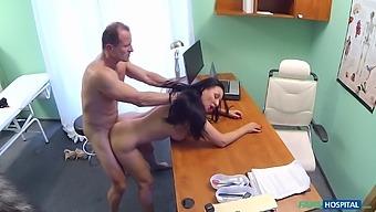 Doctors office hidden cam records Eva Ann sucking her doctor off