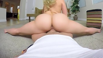 Sexy babe rides the big hard cock WHILE HER PARENTS AT HOME