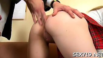 Lewd teacher is pounding fascinating playgirl senseless