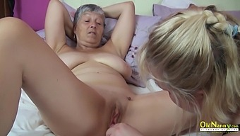 Three mature ladies spending time licking pussies and masturbating