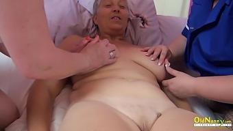Three mature ladies spending time licking pussies and masturbating