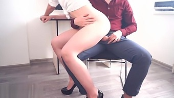 Amateur Sex in Office with Young Secretary Facial Cum 4K POV Kate Boom