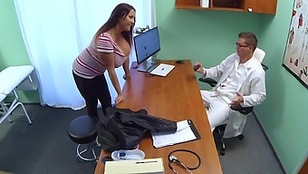 Horny doctor would smash this woman's huge tits