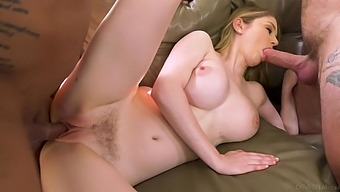 Babe fucks her way to business deals and she loves MMF threesomes