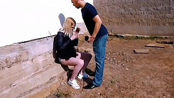 Naughty blond chick Carly Rae is fucked hard by handsome photographer