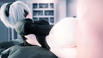 Naked 2B with Big Natural Titties Fuck