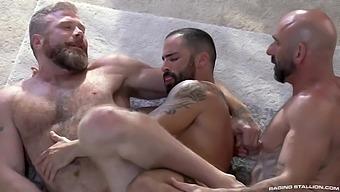 Drew Sebastian, Edji da Silva and Cain Marko (LO P1)