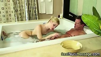 Fetish masseuse creampie