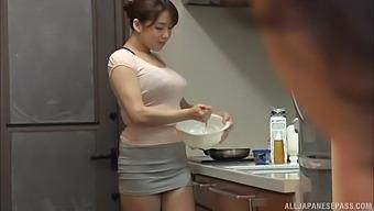 Nice tits Japanese cutie Mishima Natsuko moans while having nice sex
