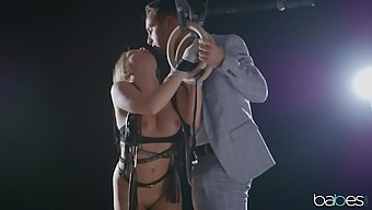 Erotic fucking between a handsome stud and sexy Alessandra Jane