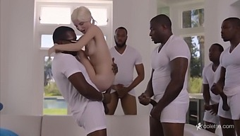 Dirty Orgy With Five Blacks And Small 18-year-old Teen Piper Perri