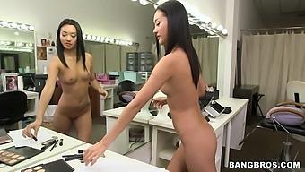 Fit dude with a large dick fucks stunning Asian chick Alina Li
