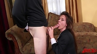Cute maid Alice Lighthouse gets fucked and ends up covered with cum